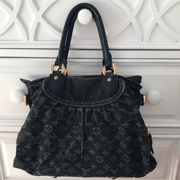 Louis Vuitton Handbags - Authentic Louis Vuitton Cabby Black neo denim bag